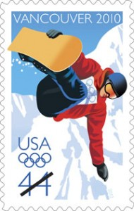 Snowboard stamp