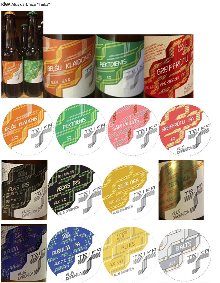 Latvijas alus darītavu etiķetes